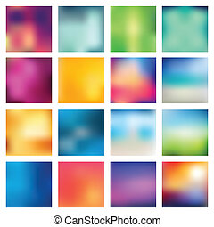 Set of abstract backgrounds blurred. Vector illustration.