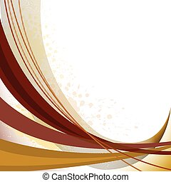 abstract background with brown curved lines and spots of paint