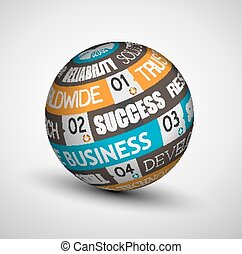 Abstract Business technology sphere of ideas.