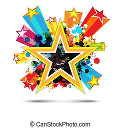 abstract celebration star background design
