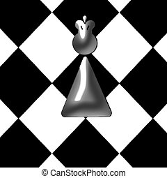 abstract chess queen