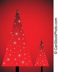 abstract christmas trees
