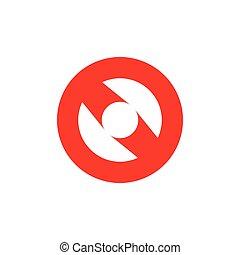 abstract circle geometric logo vector