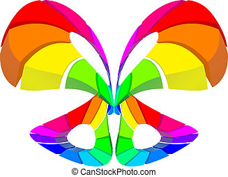 Abstract colorful butterfly