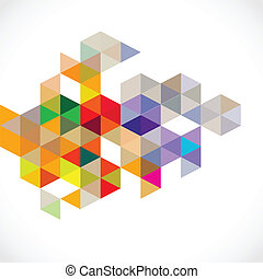 Abstract colorful modern polygon template, vector illustration