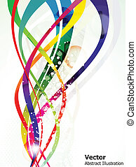 abstract colorful shiny wave