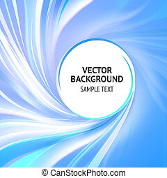 Abstract blue cover with smooth lines. Vector background, contains transparencies.