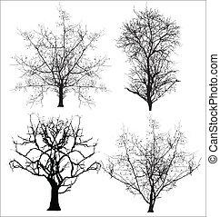 Abstract Creative Conceptual Design Art of Dead Trees Vectors