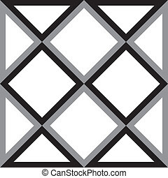 Abstract diamond square and triangle trydimensional illusion background
