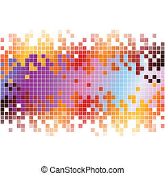 Abstract colorful pixels digital background. RGB EPS 10 vector