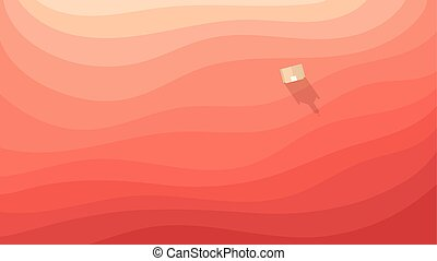 abstract digital background with red desert and small church
