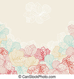 Abstract elegance seamless flower background with orchid.