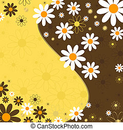 Abstract floral background (vector)