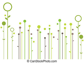 simple garden, modern floral background, vector