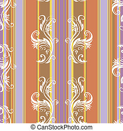 Abstract floral stripes background (vector)