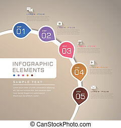 modern vector abstract flow chart infographic elements