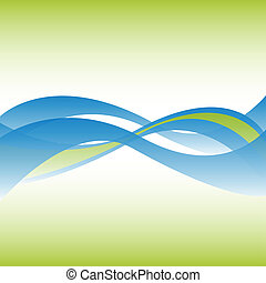 Abstract flowing lines background vector.