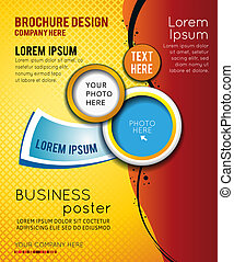 Stylish presentation of business poster, magazine cover, design layout template