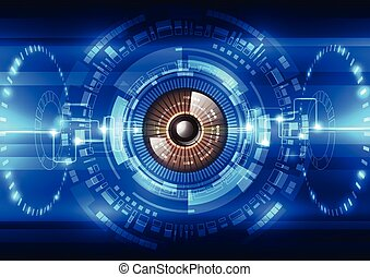 abstract future technology security system background, vector illustration