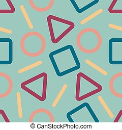 abstract geometric pattern with green background