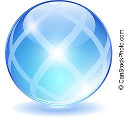 Abstract glass ball, vector illustration
