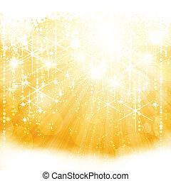 Festive shining stars on golden light burst. Perfect for the Christmas season or any other festive occasion. EPS10