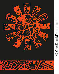 Abstract graffiti sun design template or background