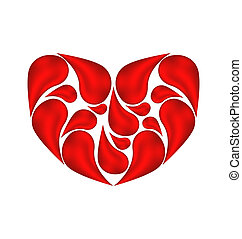 Abstract heart made ??of drops blood