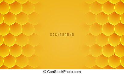 abstract hexagon honey bee background vector illustration