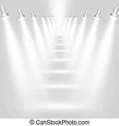 Abstract light grey background with spotlights. Vector eps10 illustration