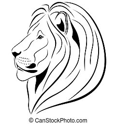 Abstract Lion in the form of a tattoo