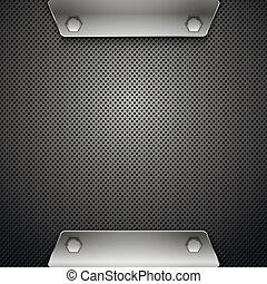 Abstract metallic background. Vector illustration. Eps10