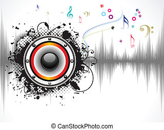 abstract musical sound background vector illustration