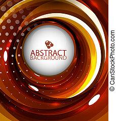 Vector abstract orange swirl wave background