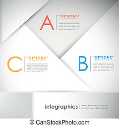 abstract paper infographic elements