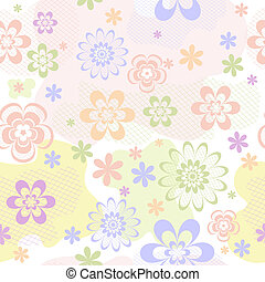 Abstract pastel seamless floral pattern