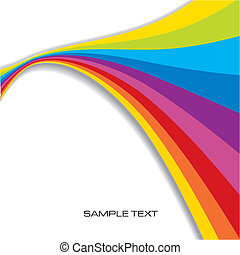 Abstract Rainbow Background with copy space, vector illustration