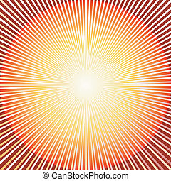 Abstract red background with sunburst (vector)