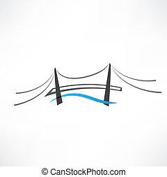 abstract road bridge icon