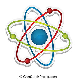 abstract science icon of atom illustration design over white