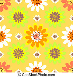 Abstract seamless floral pastel pattern