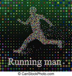 Abstract, Silhouette Running man,