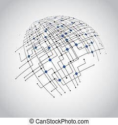 Abstract technology globe