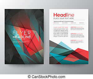 Abstract Triangle Geometric Brochure Flyer design Layout vector template in A4 size