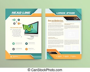 Abstract Vector Brochure Template. Flyer Layout. Flat Style. Infographic Elements.