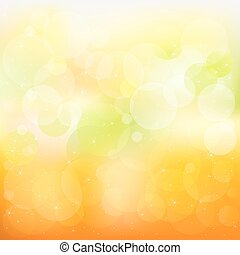 Abstract Orange And Yellow Vector Background With Stars