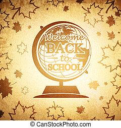 Vintage Globe Back to School