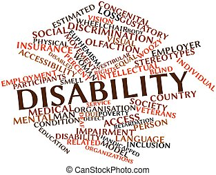 Abstract word cloud for Disability with related tags and terms