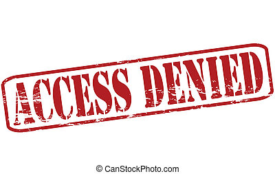 Rubber stamp with text access denied inside, vector illustration