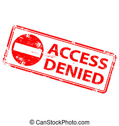 """Rubber stamp illustration showing """"ACCESS DENIED"""" text"""